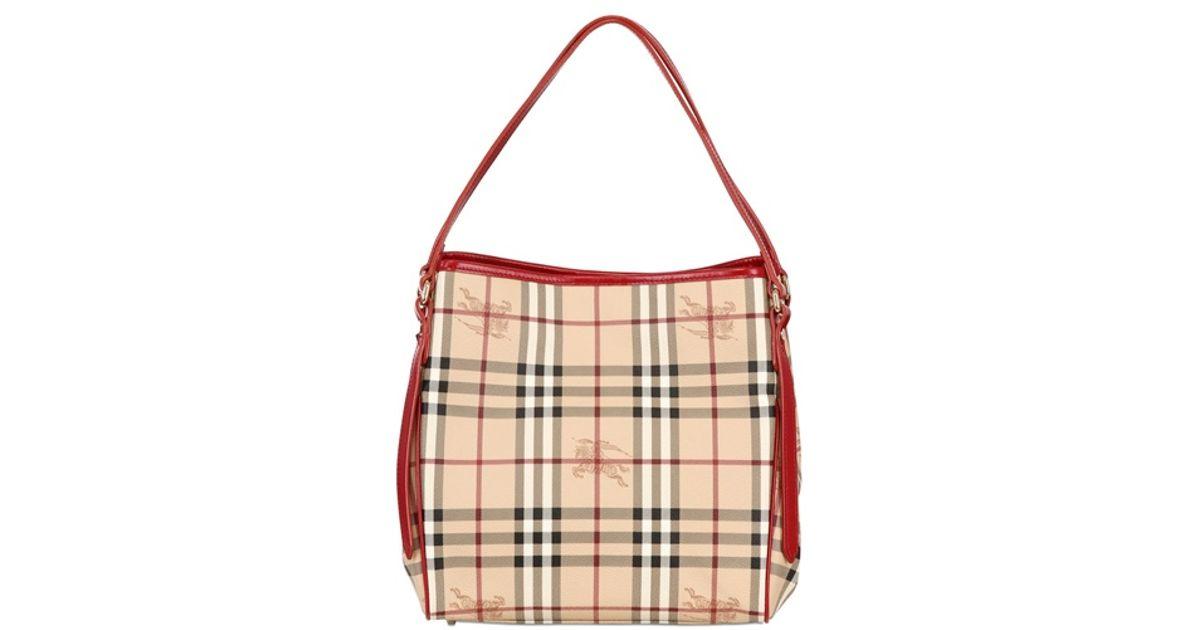 Lyst - Burberry Small Canterbury Haymarket Bag in Natural d19e15e6dc100