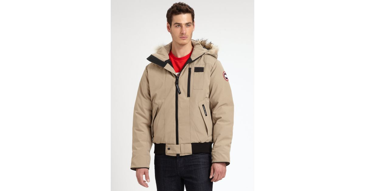6e025a5b8b8 ... france lyst canada goose borden fur trimmed puffer jacket in brown for  men 449c7 07dd6