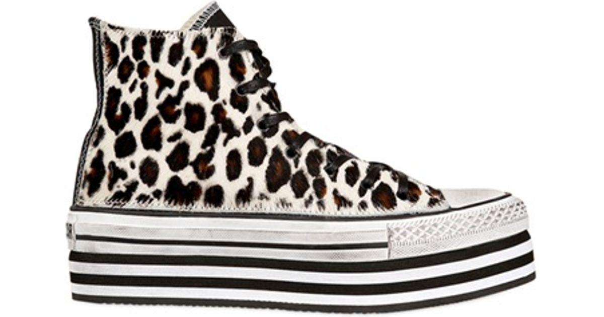 converse platform leopard