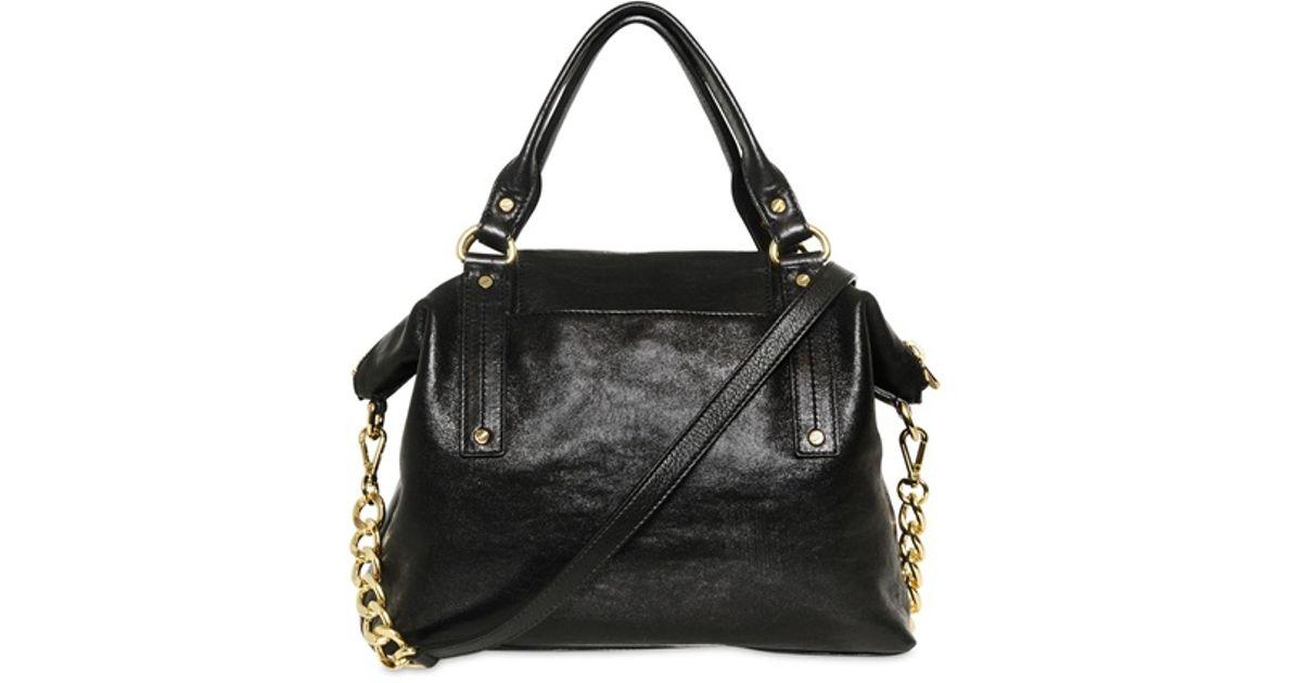 Lyst Michael Kors Hamilton Soft Leather Top Handle Bag In Black