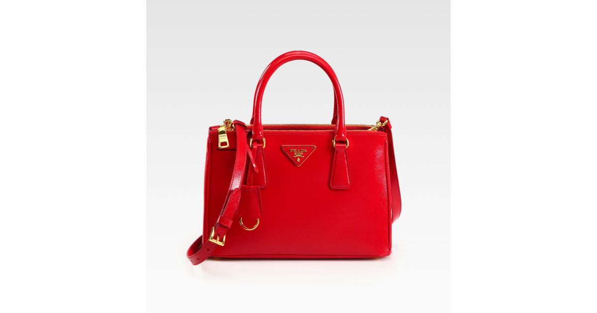 925470d98c29 Prada Saffiano Vernice Tote in Red - Lyst