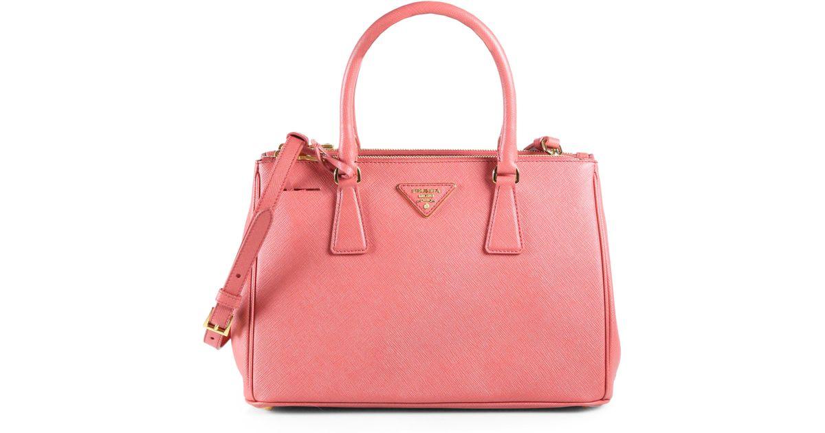 8bbab691f35f3 Lyst - Prada Saffiano Lux Small Tote Bag in Pink