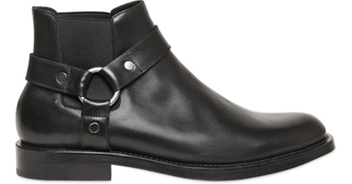 outlet for sale high quality pre order Saint Laurent Black Chelsea Low Motorcycle Boots for men