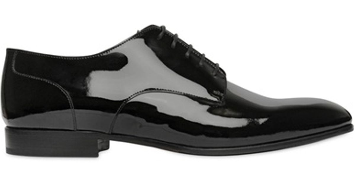 Valentino Patent Shoes Black Men Derby Laceup For Leather XiuTOZPk