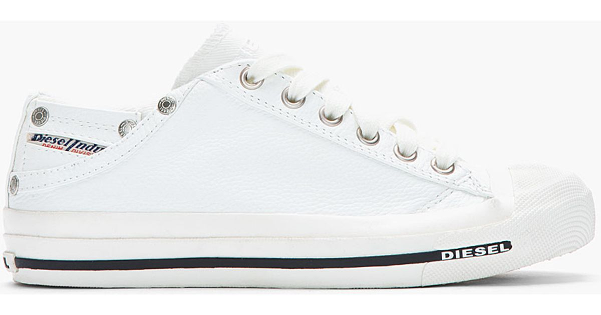 cc44c6571b38 Lyst - DIESEL White Low Exposure Sneakers in White