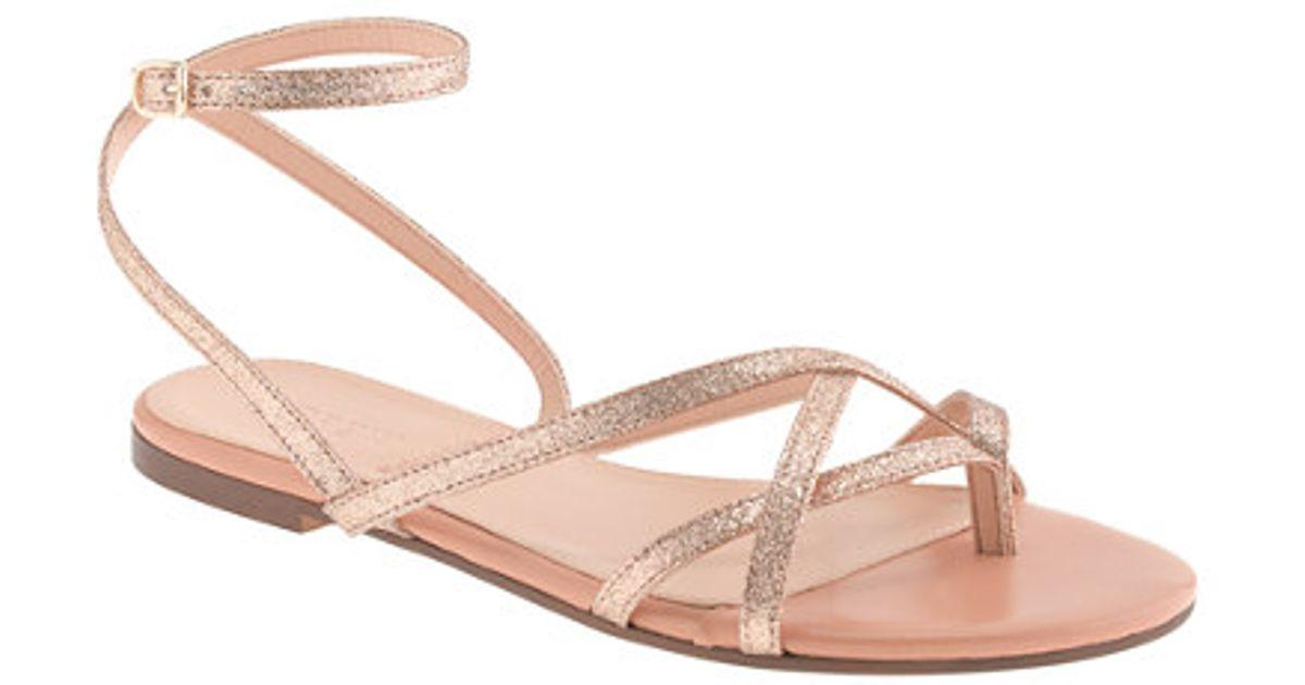 6b4334ee2741 J.Crew - Metallic Pilar Glitter Sandals - Lyst