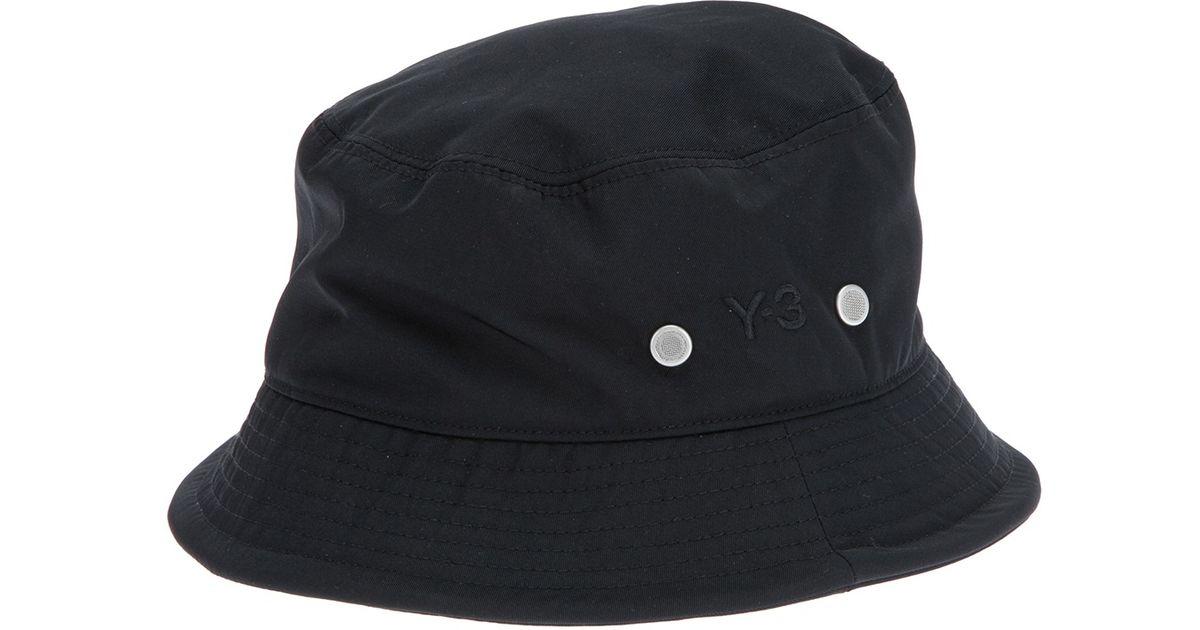 250268a9bac99 Y-3 Logo Bucket Hat in Black for Men - Lyst