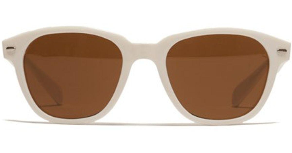 98ee0075ae Lyst Bonobos Vuarnet Vintage Sunglasses White In White For Men