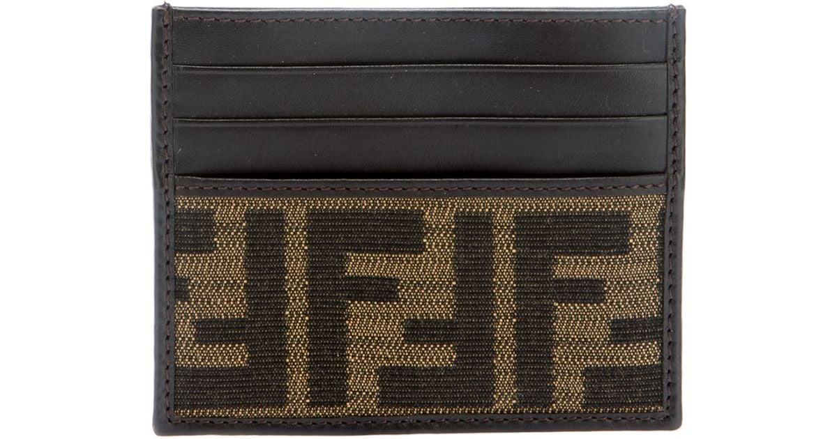 e5700bf9 Fendi Brown Monogram Logo Cardholder