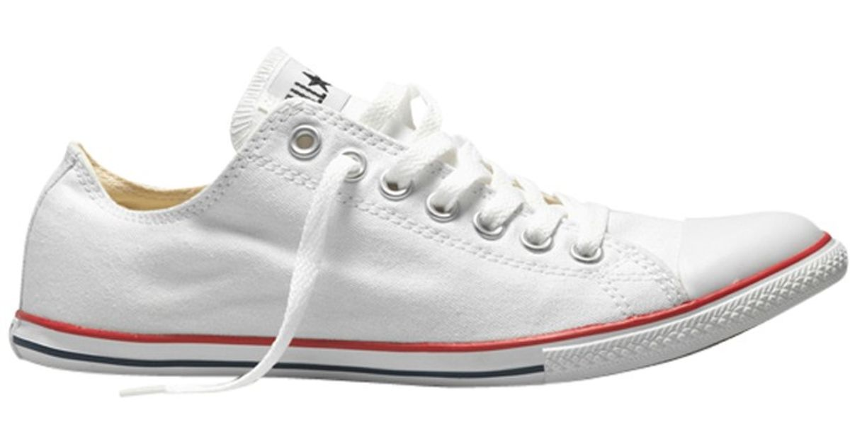 c091d8dfb947 Converse Chuck Taylor All Star Slim Ox Trainers in White for Men - Lyst