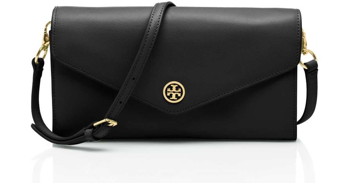 0375c929110 Lyst Tory Burch Robinson Expandable Concierge Wallet In Black