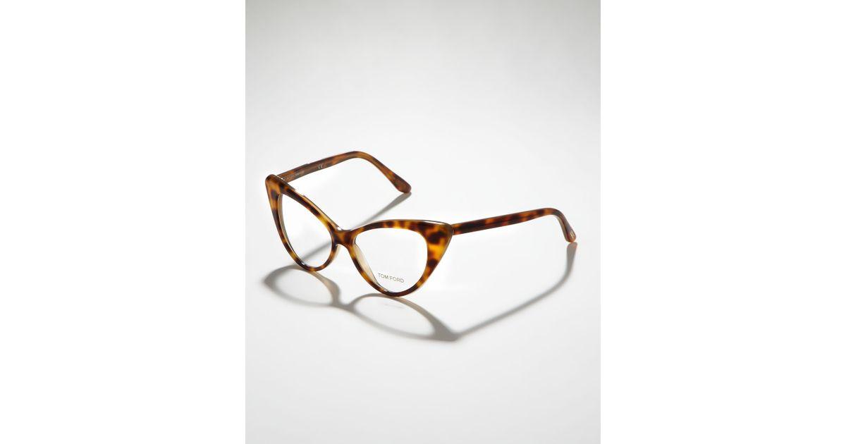 f7ea56c0000 Lyst - Tom Ford Cateye Glasses in Brown