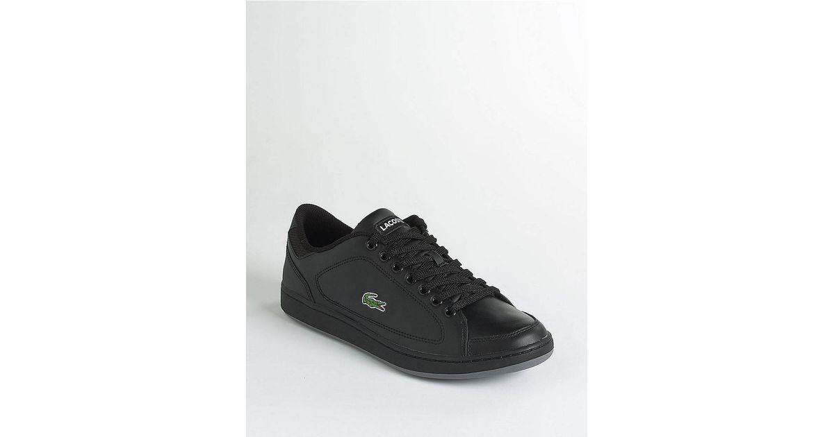 d98e213b3ffff Lacoste Nistos Leather Tennis Shoes in Black for Men - Lyst