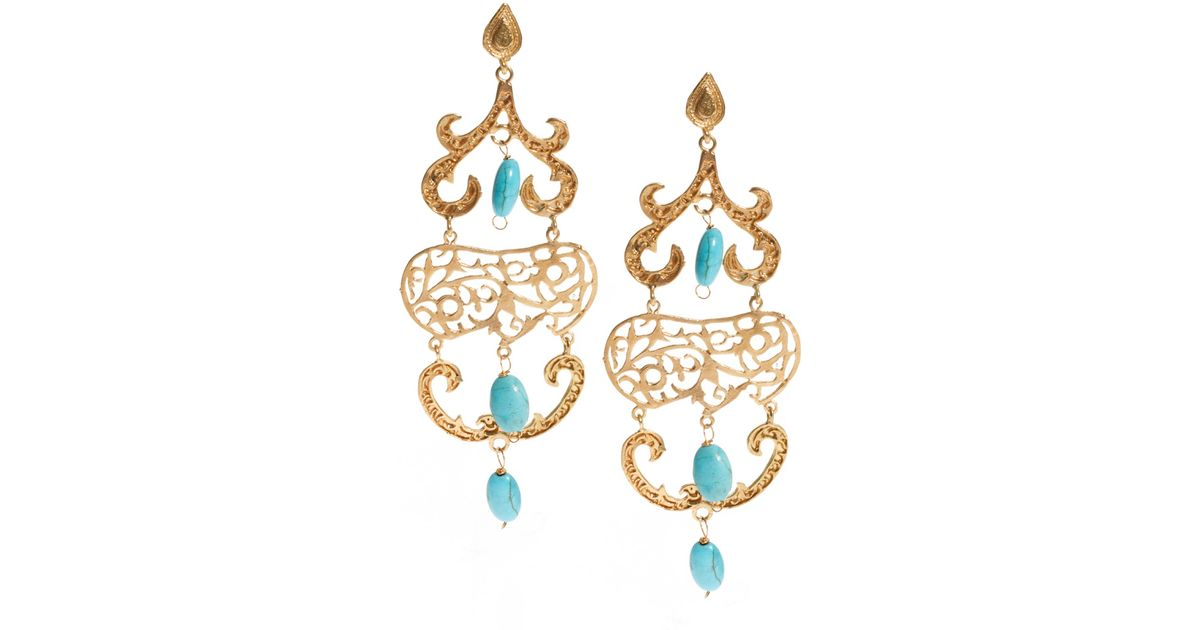 Asos Ottoman Hands Exclusive To Ornate Chandelier Earrings in Blue ...