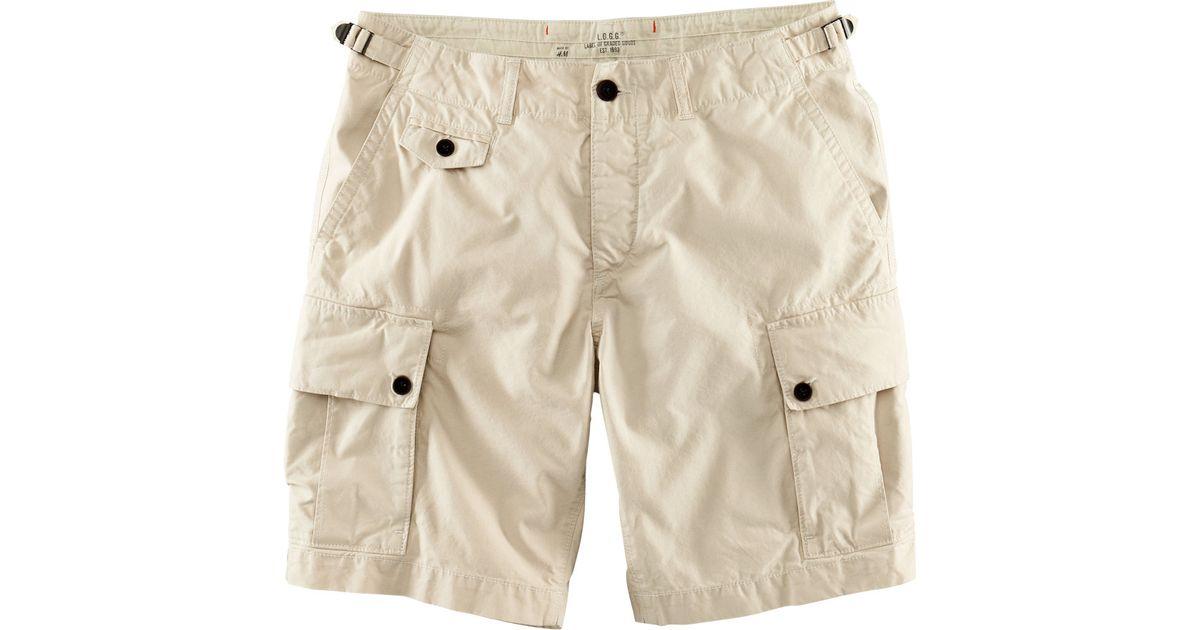 Innovative Hu0026m Cargo Shorts In Khaki For Men | Lyst