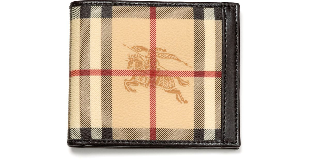 fashionable and attractive package exquisite design detailed images Burberry Multicolor Haymarket Check Wallet for men