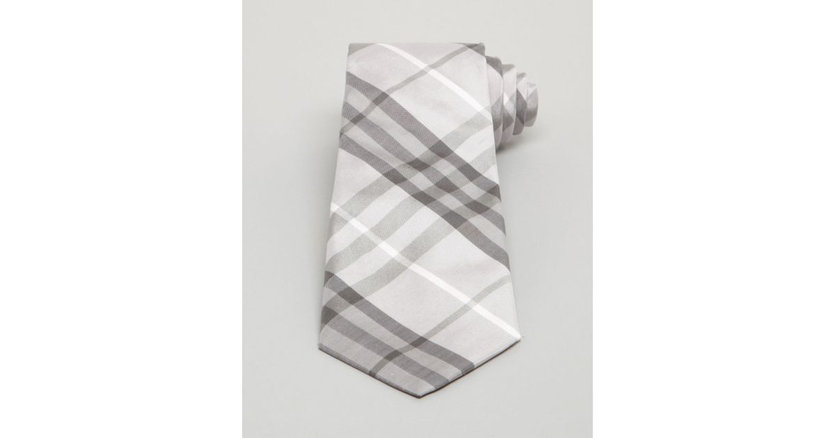 415d213cf107 ... where can i buy lyst burberry london rohan regent edward plaid classic  tie in gray for