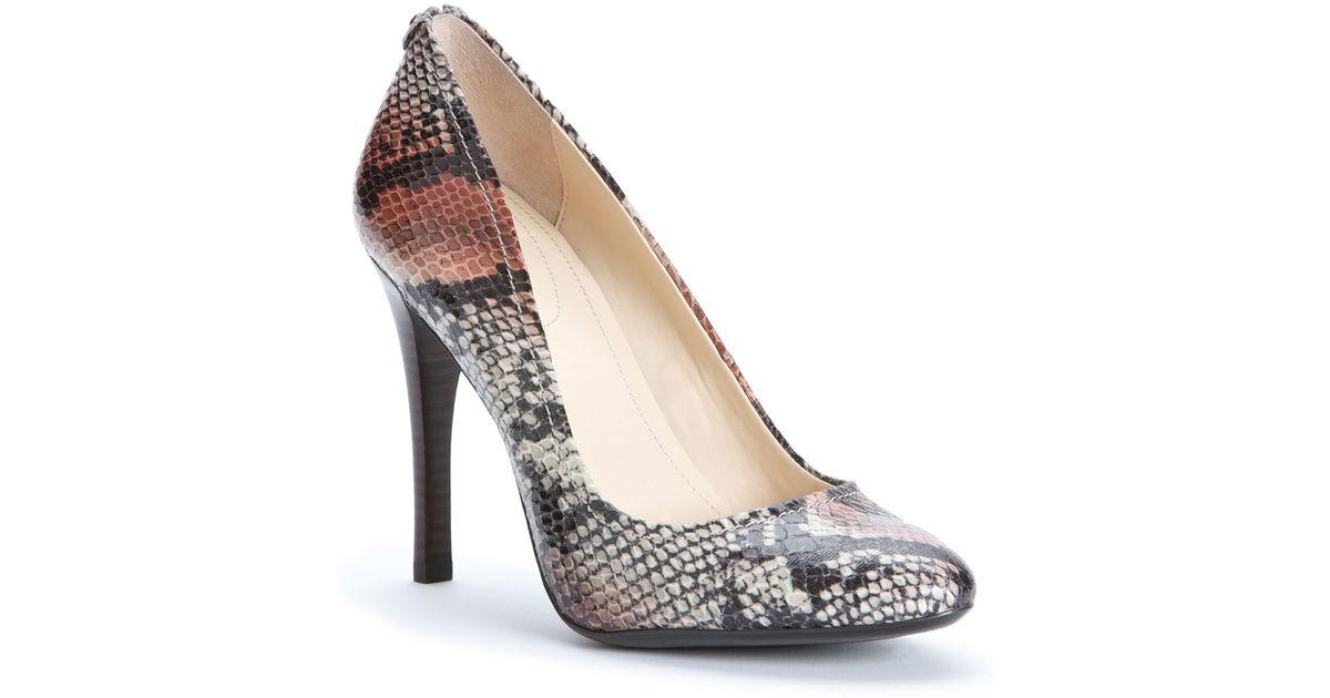 a0f4692c0ea Calvin Klein - Brown Exotic Pumps Whinnie High Heel - Lyst
