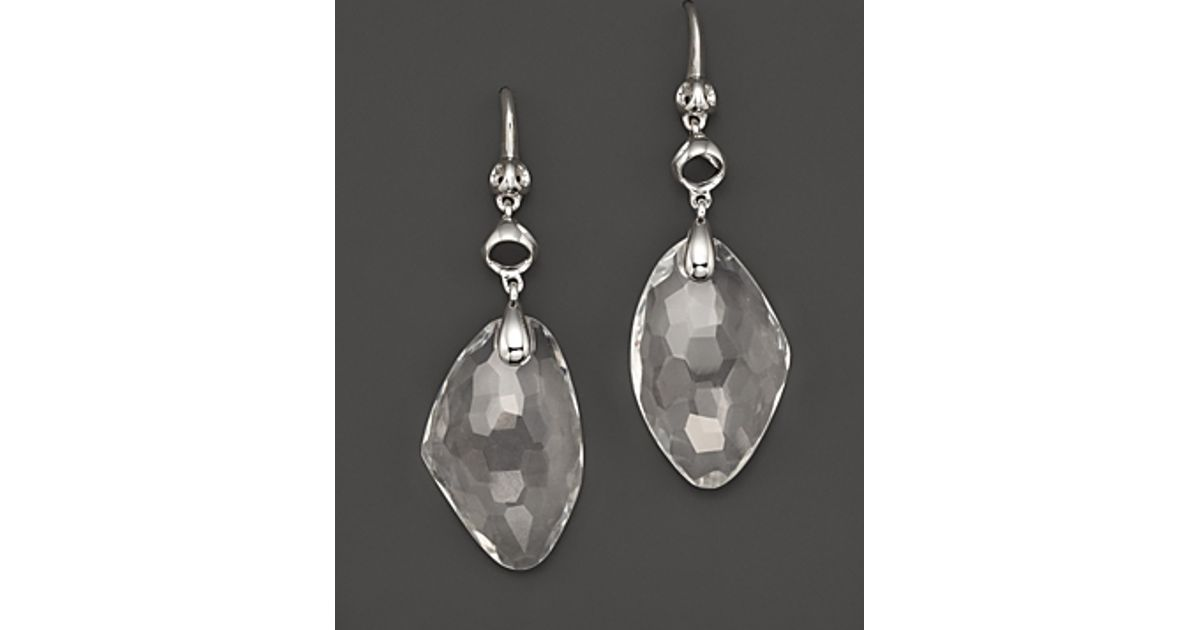 Lyst Di Modolo Sterling Silver And Rock Crystal Triadra Icon Drop Earrings In Metallic