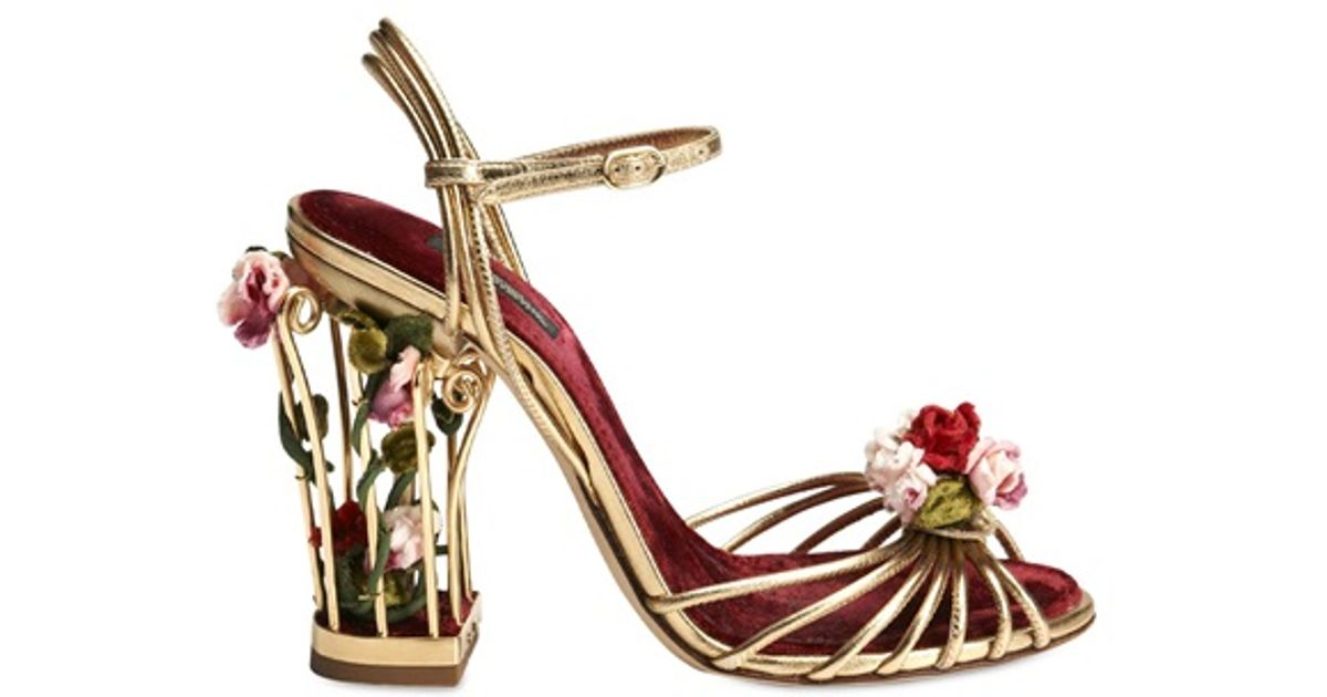 Sandals Gabbana Cage 105mm Multicolor Calf Rose Dolceamp; Leather 1T3JlFKc