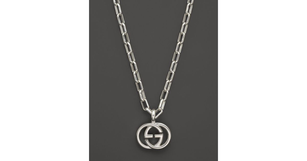 Lyst gucci interlocking collection double g necklace 20 in lyst gucci interlocking collection double g necklace 20 in metallic aloadofball Image collections