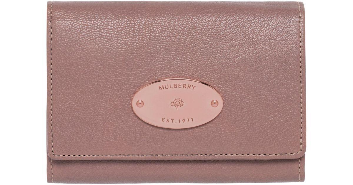 456a9a3281 sale mulberry tree french purse black glossy goat hair 0659e cbd1a