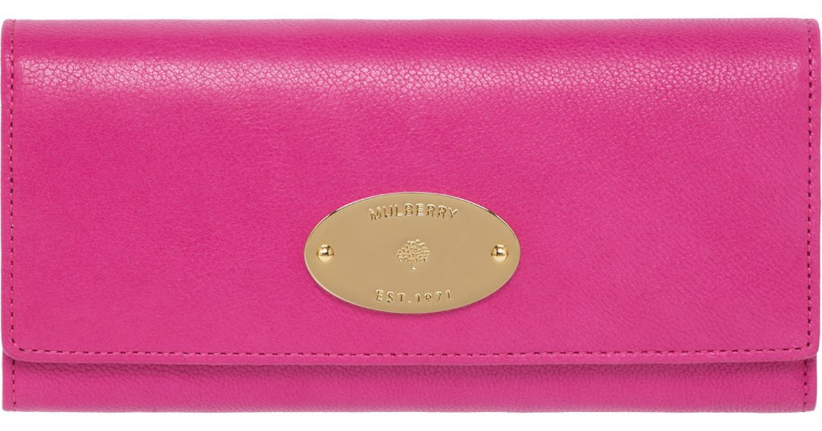 1387d781eab ... promo code for lyst mulberry continental wallet in pink ba0c5 aa4be