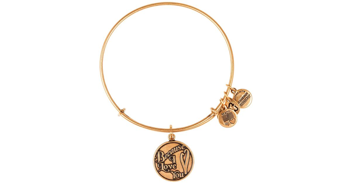 Lyst Alex And Ani Because I Love You Expandable Wire Bangle In Metallic