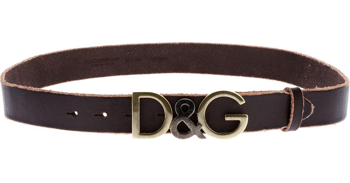 8c50061b44 ... wholesale lyst dolce gabbana logo belt in brown for men 4fbea 9e524