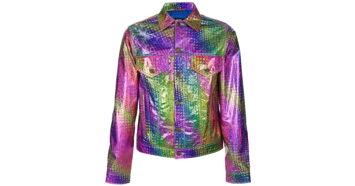 Jeremy Scott Hologram Jean Jacket For Men Lyst