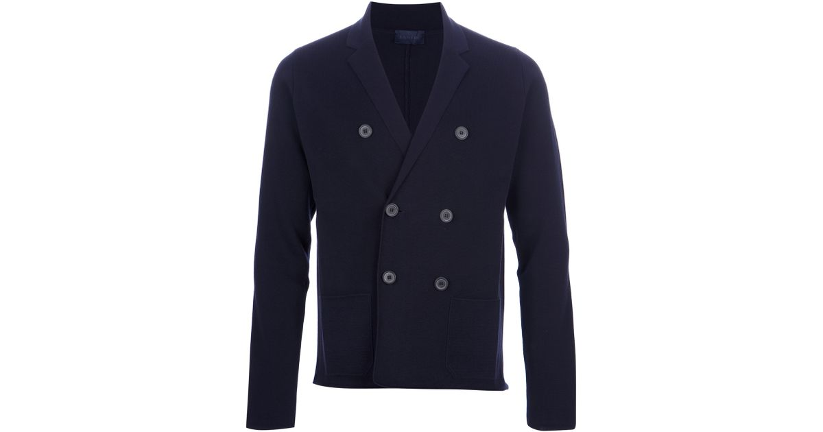 716433fd7c0 Lanvin Blue Double Breasted Cardigan for men