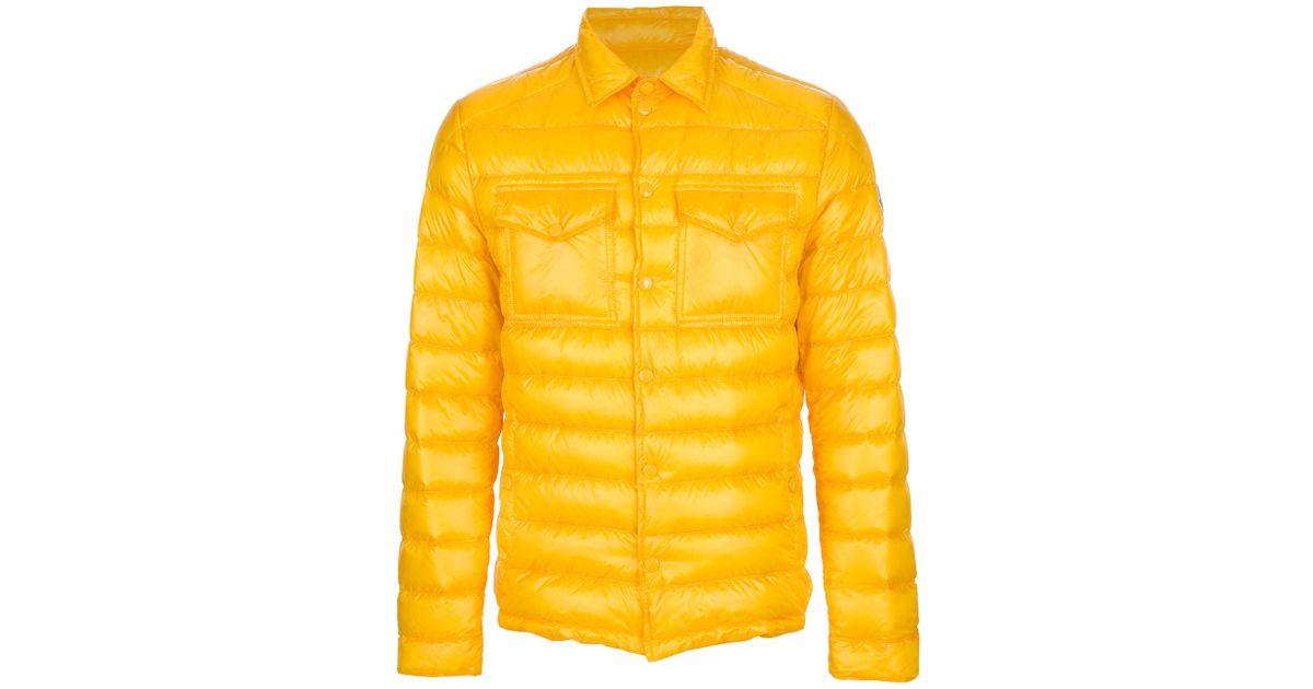 1c6072ebb Moncler Yellow Gregoire Padded Jacket for men