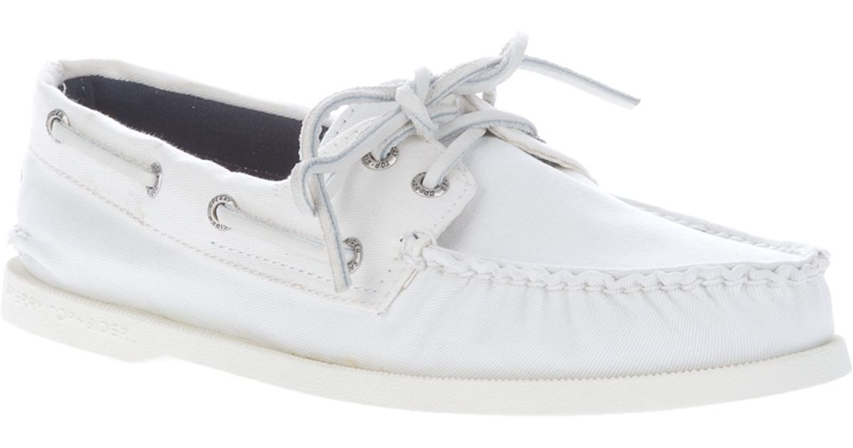 Sperry Top-Sider Boat Shoe in White for