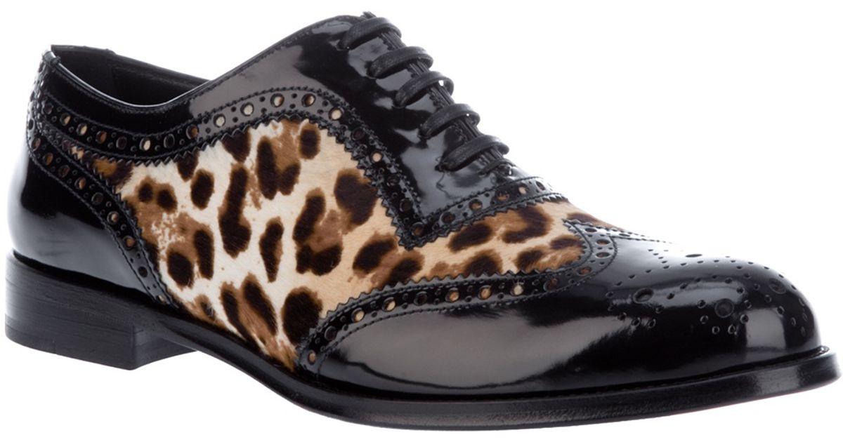 Dolce \u0026 Gabbana Leopard Print Brogues
