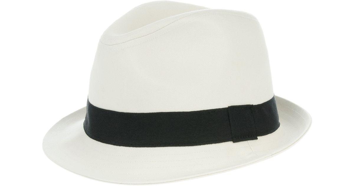 1e7fdfab932 Lyst - Ralph Lauren Trilby Hat in White for Men