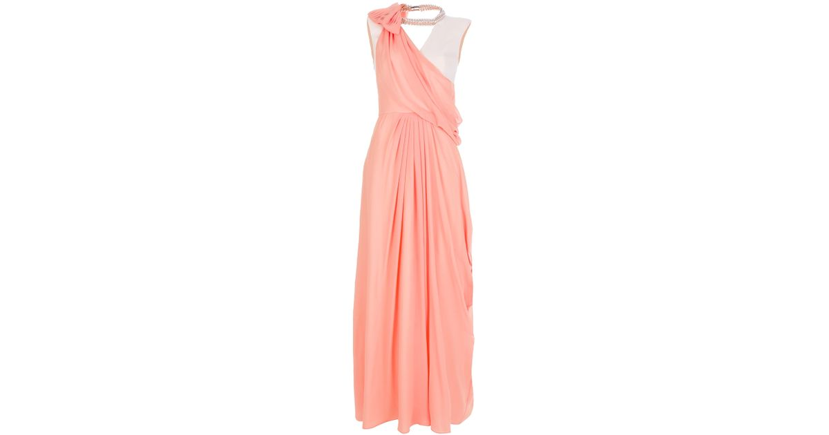 Lyst - Viktor & Rolf Maxi Evening Gown in Pink