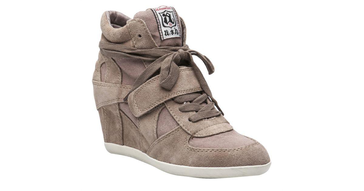 Ash Bowie Wedge Sneaker in Brown (Gray