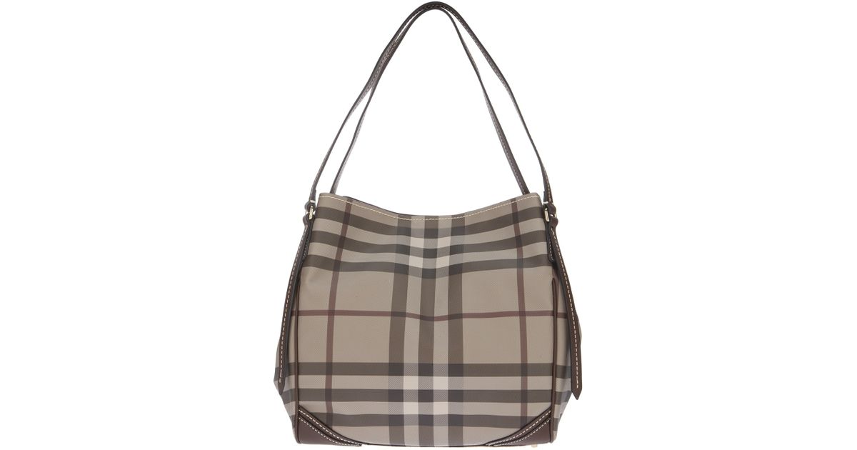 f9ab9e84f94 Lyst - Burberry Smoked Check Shoulder Bag in Gray