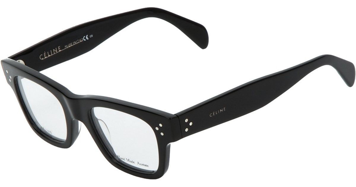 cline square frame glasses in black lyst
