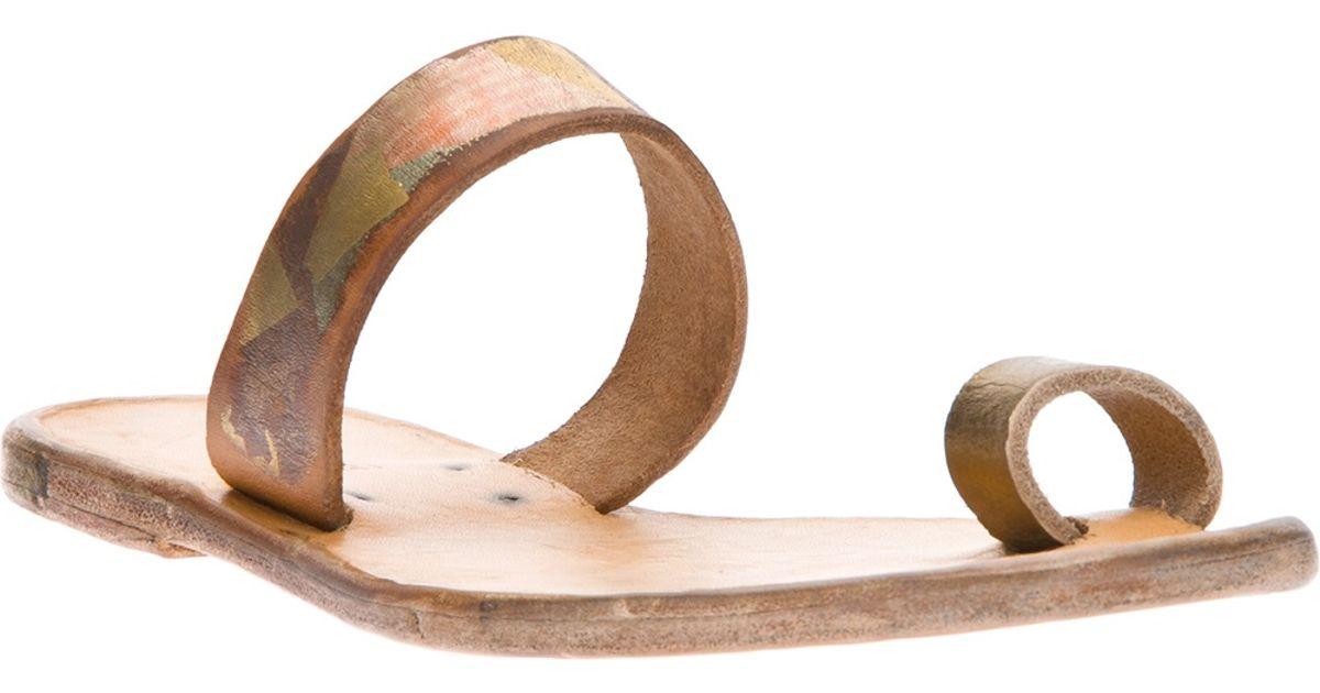 7c884bc4fb1e3c Lyst - Dimissianos   Miller Daktylo Sandal in Metallic
