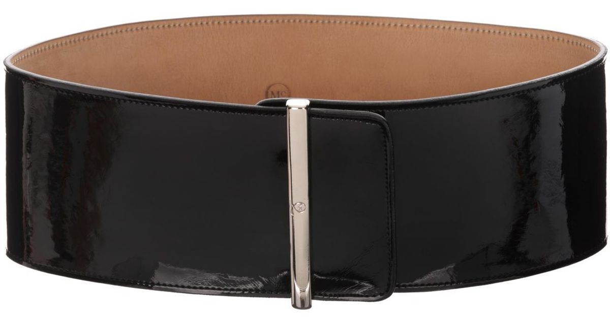 2cbfa04f806c2 McQ Wide Patent Leather Belt in Black - Lyst