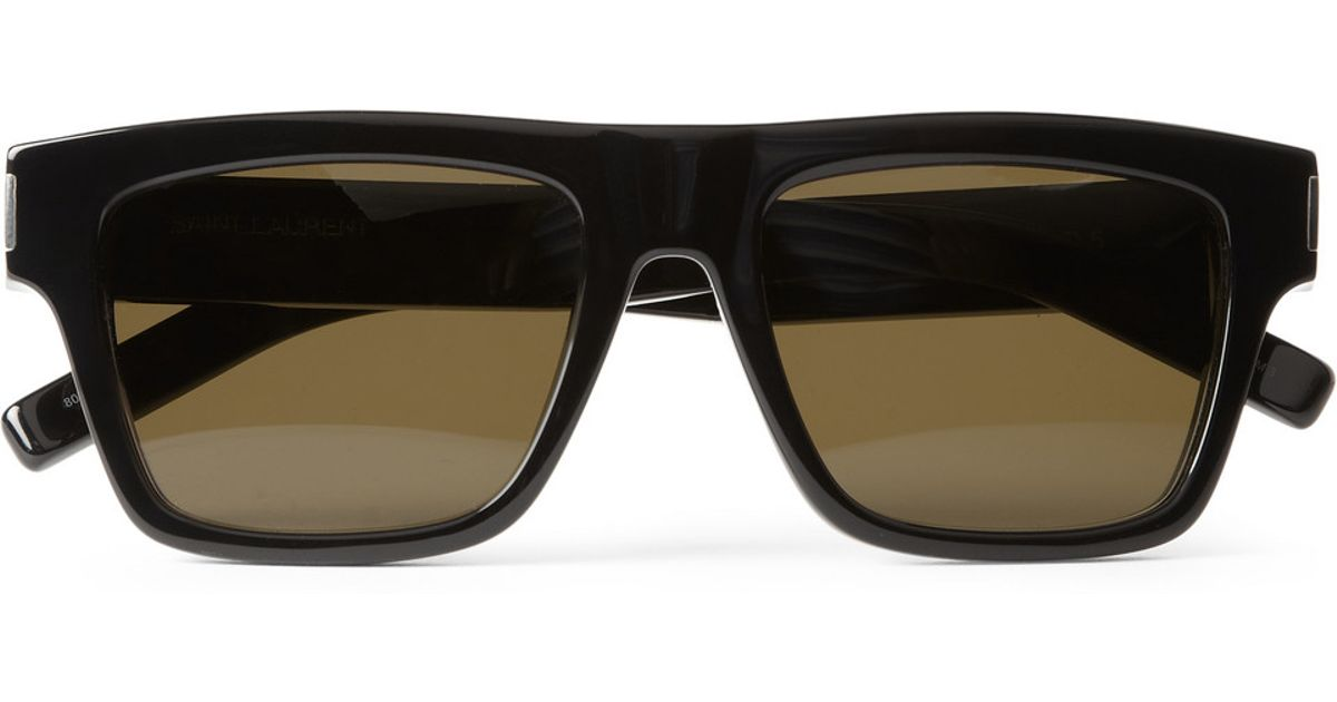 5bc2a4e3419 Saint Laurent Bold Squareframe Acetate Sunglasses in Black for Men - Lyst