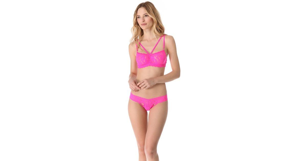 a7021971845d87 Lyst - Hanky Panky Vixen Bralette in Pink