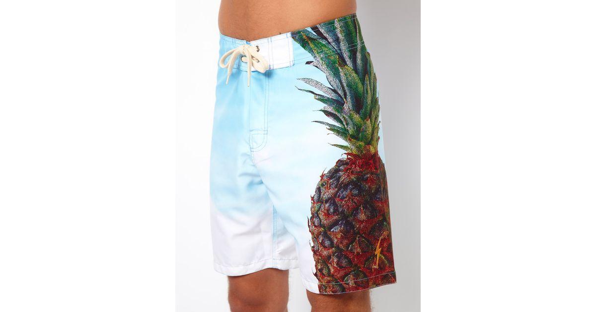210e9b4661 Lightning Bolt Blue Pineapple Boardshort 19 for men