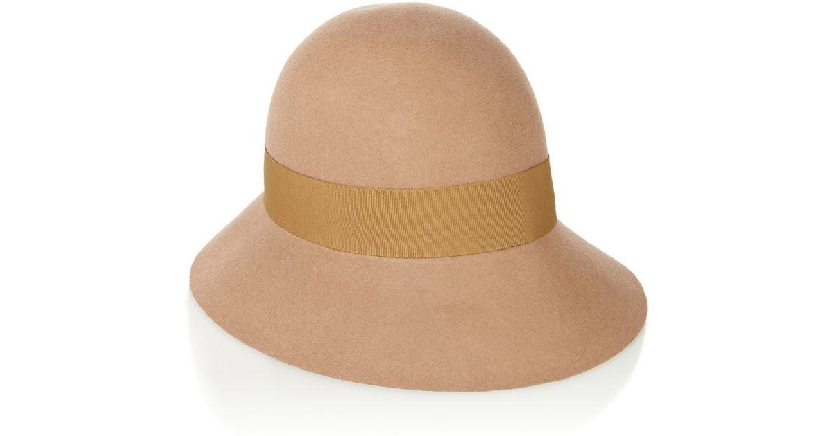 834e25410 Stella McCartney Natural Wool Felt Cloche Hat