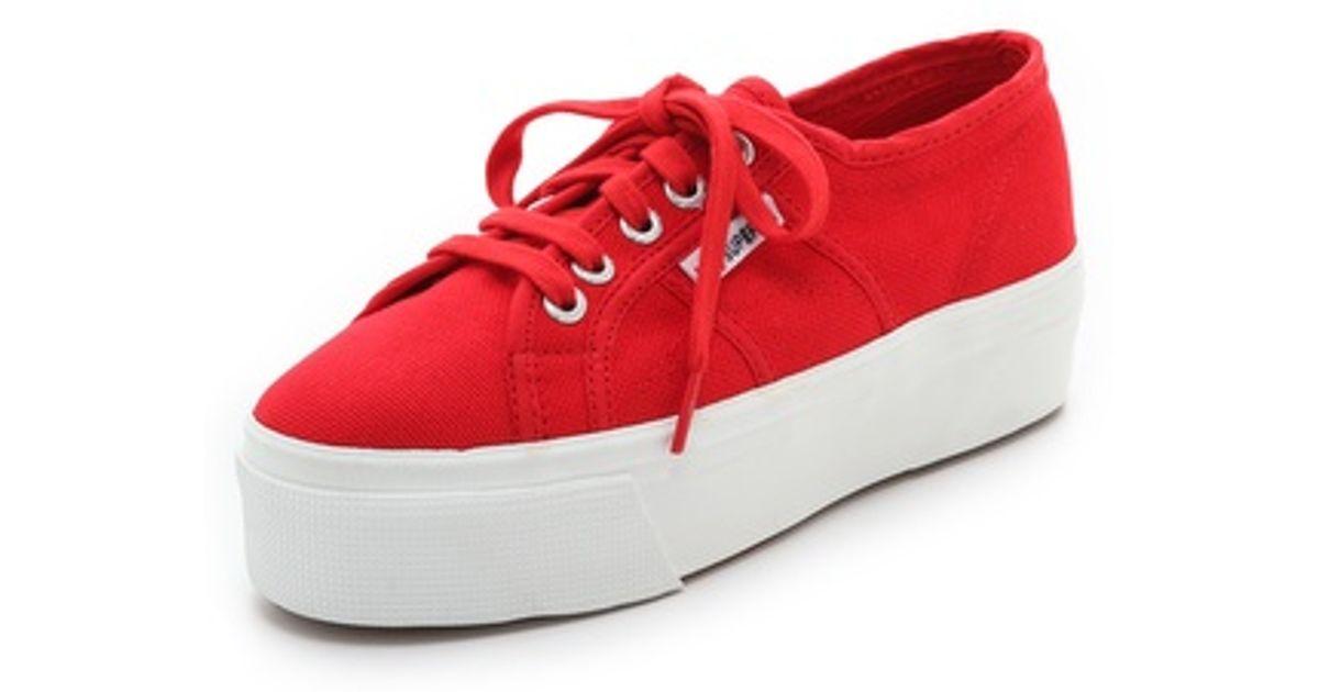 b5b98409d71 Lyst - Superga Platform Sneakers in Red