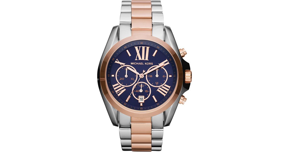 b4581448df21 Lyst - Michael Kors Mid-size Bradshaw Chronograph Watch in Gray