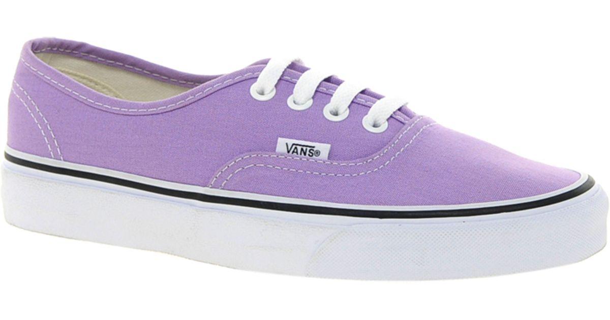 vans authentic purple