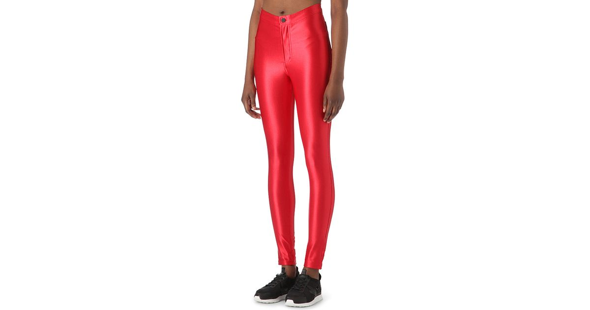 7d0b9a3464f6cc American Apparel The Disco Pant Trousers in Red - Lyst