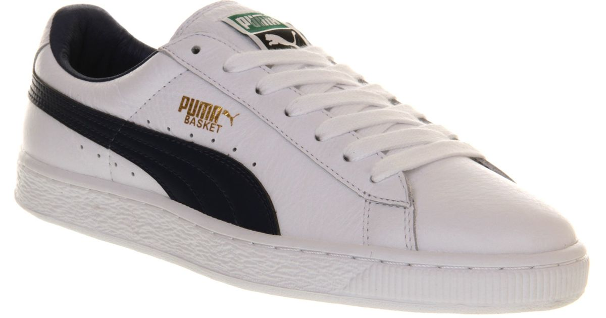 huge selection of 70a11 46b72 PUMA Basket Classic White Blue Leather for men